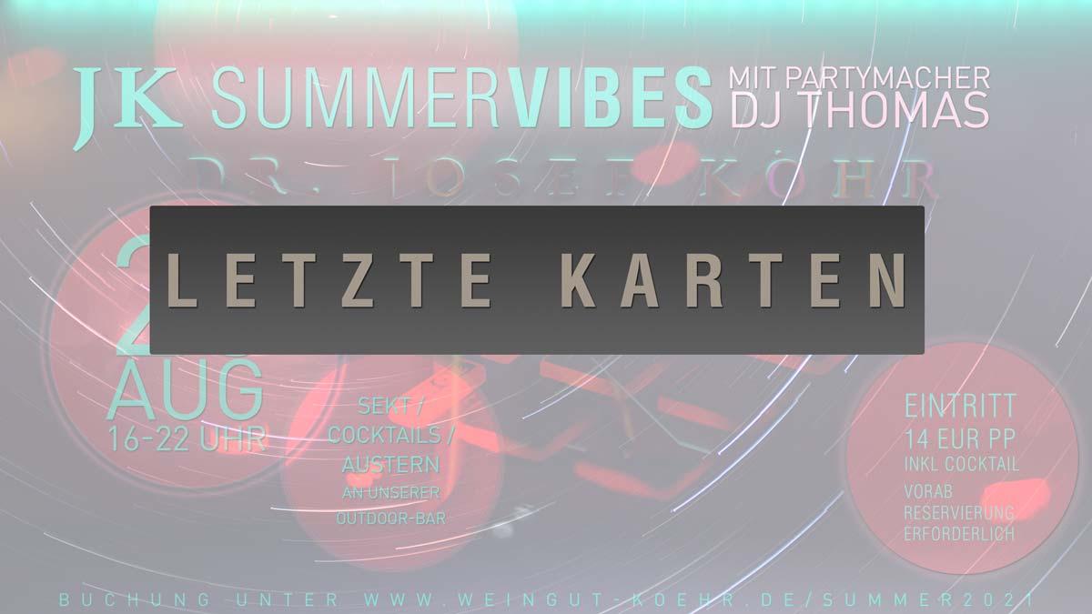 JK Summer Vibes (28. August 2021)
